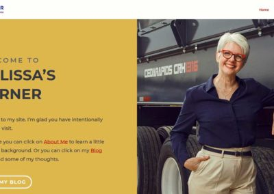 screenshot of the newly redesigned homepage of Melissa Holobach's website