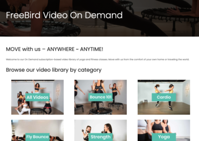FreeBird Video on Demand landing page